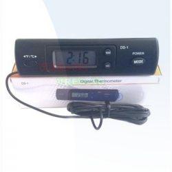 Digitalni termometar sa sondom + sat DS-1 spolj.-unut.