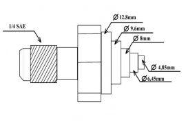 "Univerzalni servisni igličasti ventil 1/8""-1/2"" (6 mera)"